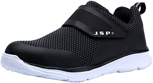 - LARNMERN Women's Work Shoes Steel Toe Shoes Work Sneakers Anti-Piercing Light Weight and Breathable JSP0711-W (8 US Women / 6.5 US Men, Black1)