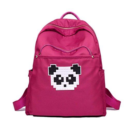 Clode® Mochila unisex Panda impresión mochilas impermeabilizan bolsas de hombro Color de rosa