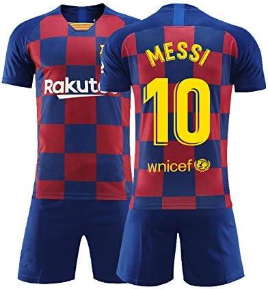 ERICK Ropa Deportiva de fútbol,Camiseta para niños, Camiseta New Barcelona Home 10#, Camiseta de fútbol Messi Jersey(10-11años): Amazon.es: Deportes y aire libre