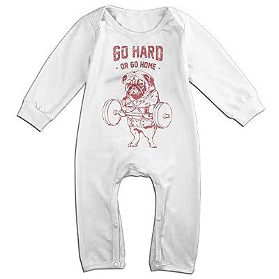 ALIPAPA Baby's Go Hard Dog Weightlifting Bodybuilding T Shirt