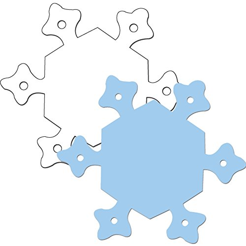 [Creative Teaching Press Two-Color Calendar Cut-Outs, Snowflake (4956)] (2 Snowflake)