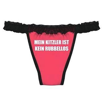 Spruch Tanga String Mein Kitzler Ist Kein Rubellos Spass Fun ...