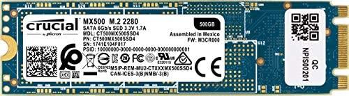 Crucial MX500 CT500MX500SSD4 - Disco Duro sólido Interno SSD de 500 GB + SanDisk Ultra - Tarjeta de Memoria microSDXC de 128GB con Adaptador SD, ...