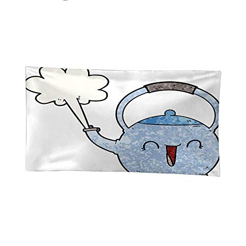 Halo Kettle (Nicely Wall Tapestries Cartoon Boiling Kettle Tapestries Hippie 80W x 60L Inch)