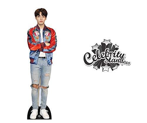 Jungkook Red Jacket Bts Bangtan Boys Lifesize Cardboard Cutout with Free Desktop Cutout of Jeon Jung-Kook