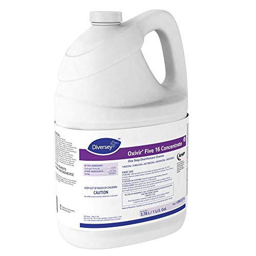 Diversey Oxivir Five 16 Concentrate One-Step Premium Disinfectant Cleaner, 1 Gallon Bottle, 4 Bottle Value Pack by Diversey (Image #5)