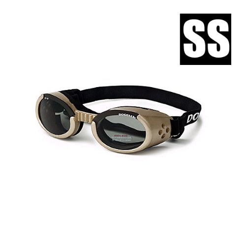 Doggles ILS Extra Small Chrome Frame and Smoke Lens, My Pet Supplies