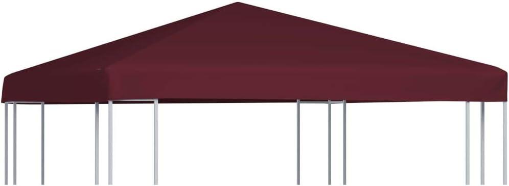 Benkeg Toldo De Cenador 3x3 m Burdeos 310 G/M² Impermeable, Toldo De Repuesto Techo del Cenador, Toldo De Jardín ...