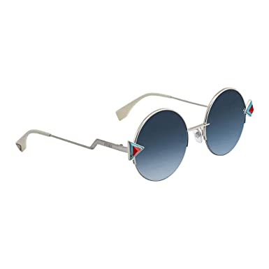 Amazon.com: Fendi anteojos de sol 0scb Marco Azul de plata ...