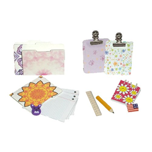 Desk Set for Doll - Accessories Made to Fit American Girl School Supplies for 18 Inch Doll