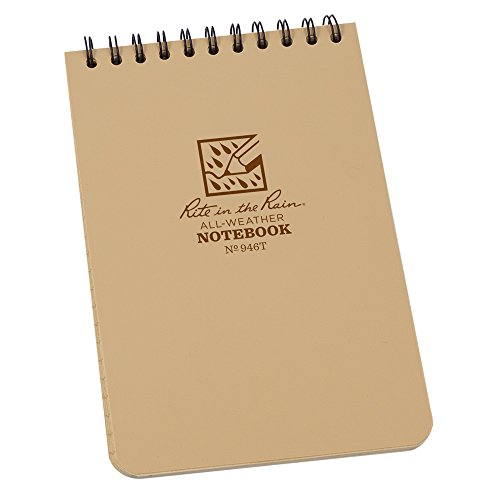"""Rite in the Rain All-Weather Top-Spiral Notebook, 4"""" x 6"""", T"""