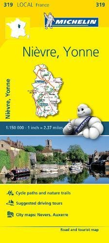 Nievre, Yonne, France Local Map 319 Michelin Local Map, Band ...