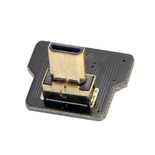 CY CYFPV Micro HDMI Type D Male for FPV HDTV Multicopter Aerial Photography Up Angled 90 Degree