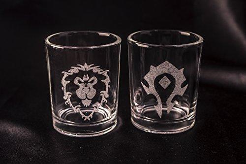 World of Warcraft shot glasses/votive holders – Set of 2