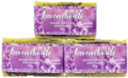 Lavender and Patchouli Hand Soaps - Natural Handmade Body Bars - Great Gift Idea! 100g 3 Pack