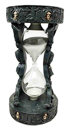 Merciless Grasp Of The Grim Reaper Skull Sandtimer Time Waits For No Man Figurine