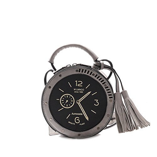 Viviesta Women's Alarm Clock Novelty Tassel Fun Unique Novelty Purse Bag Handbag ()