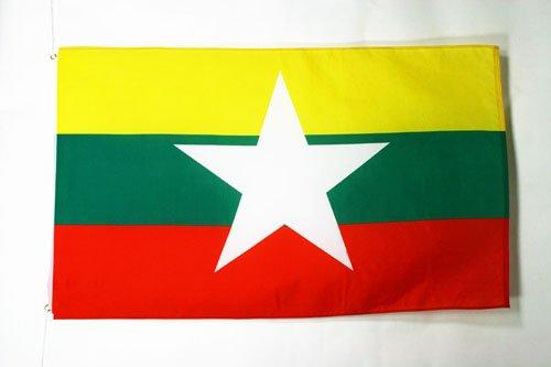 BURMA FLAG 3' x 5' - MYANMAR - BURMESE FLAGS 90 x 150 cm - B