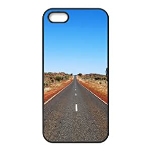 iPhone 5,5S Case,Road to Future Hard Shell Back Case for Black iPhone 5,5S Okaycosama314581