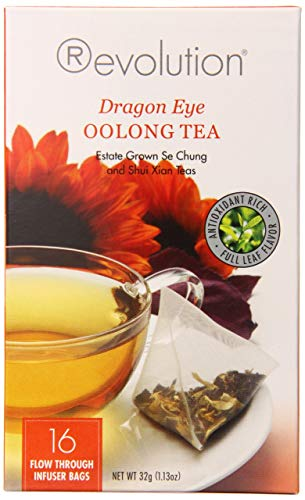 Revolution Tea, Dragon Eye Oolong Tea, 16 Flow-through Infuser Bags in a Stay-fresh Container (1)