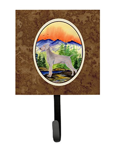 Caroline's Treasures SS8267SH4 Weimaraner Leash Holder or Key Hook, Small, Multicolor (Weimaraner Leash Hook)