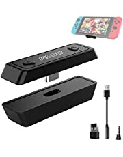 SZMDLX Bluetooth Audio Adapter for Nintendo Switch PS4, Bluetooth Audio Transmitter, USB- C Connector with Low Latency Technology, Support Two Device Pairing, Compatible with Switch,PS4,PC and TV