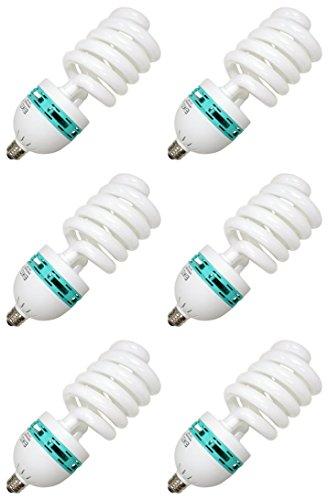 Eiko 81181 - SP85/50/MED Medium Screw (E26) Natural White High Watt Spiral Compact Fluorescent Light Bulb - Pack of 6 by Eiko