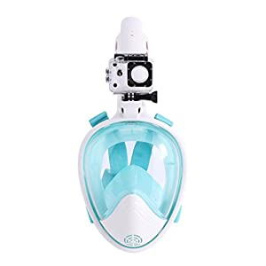 NewKelly Full Face Snorkeling Snorkel Mask Diving Goggles W/Breather Pipe For GoPro (C)