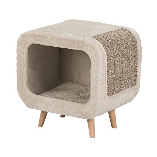 Trixie Alicia Cosy Cat Shelter Bed, Grey by Trixie