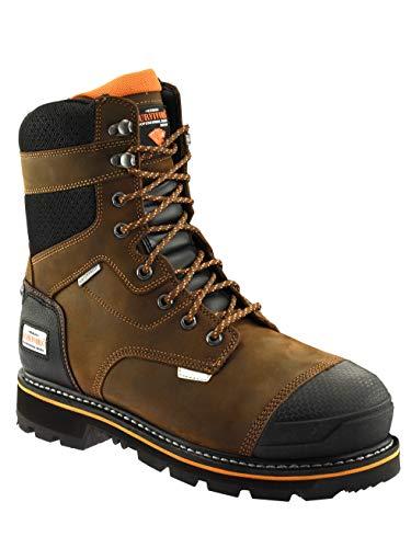 Herman Survivors Pro Series Waterproof Steel Toe Slip Resistant Boots ASTM Rated Safe Construction Work Boots (10) Brown