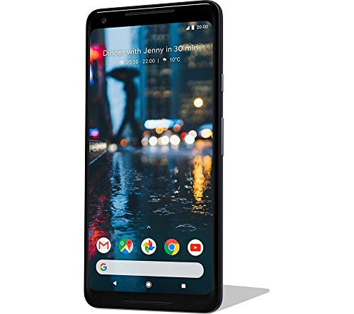 Google Pixel 2 XL (18:9 Display, 128 GB) Just Black 2021 August 12.2MP primary camera and 8MP front facing camera 15.24 centimeters (6-inch) capacitive touchscreen with 1440 x 2880 pixels resolution Android v8.0.1 Oreo operating system with 2.35GHz Qualcomm Snapdragon 835 64-bit octa core processor, 4GB RAM, 128GB internal memory and single SIM
