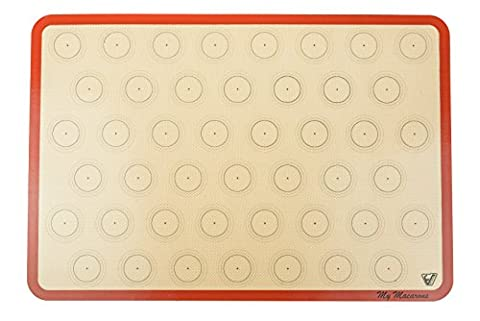 Silicone Macaron Baking Mat - 2/3 Sheet Size (Thick & Large 19 2/3