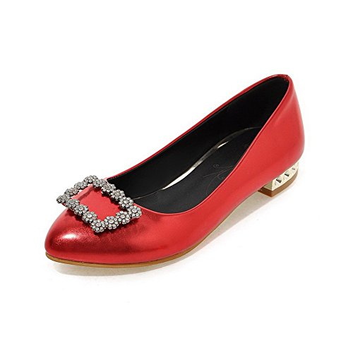 Chaussures Unie VogueZone009 Femme L Tire Couleur Cuir PU Pointu x00SnqWEH