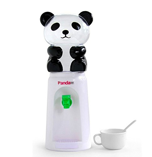 Desktop Kids - 7U Panda Water Dispenser, 2.5 Liters Mini Bottled Cooler Drinking Stand for Office Desk, Room Table, Kitchen Counter - White