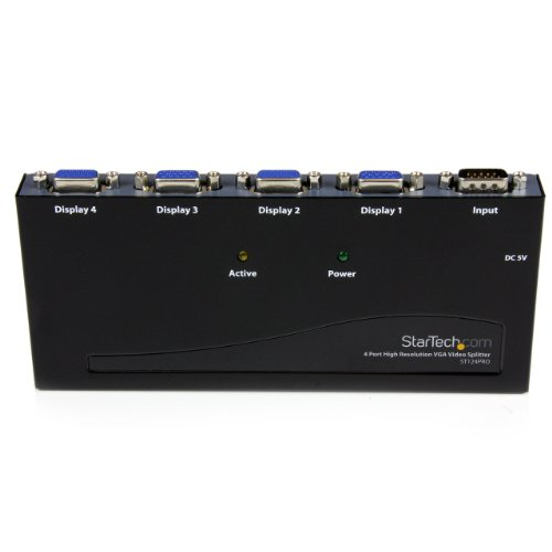 StarTech.com ST124PRO 4 Port High Resolution VGA Video Splitter - 350 MHz