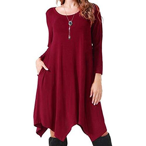 Longues Robe Femme Printemps Haut Automne Unicolore Sp Chemisier vnp7FCq