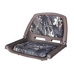 Wise 8WD139 Series Molded Fishing Boat Seat with Camoflage Cushion Pads, Brown Shell, Mossy Oak Break Up Cushion
