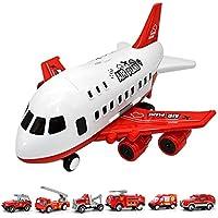 CNmuca Avião Brinquedos Para Crianças Grande Armazenamento Aeronave de Transporte com Caminhão de Liga Caminhão Veículo…