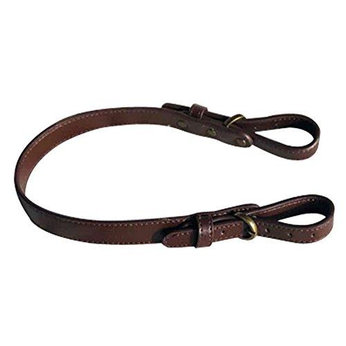 TopTie Adjustable Bag Strap Replacement, PU Strap For Handbag Purse-Dark Coffee / Bronze Hook
