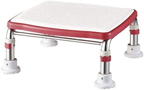 アロン化成 安寿 ステンレス製浴槽台Rジャスト ソフトクッションタイプ (高さ17.5-25, レッド)
