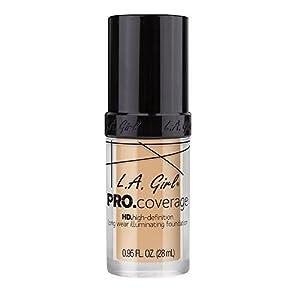 L.A. Girl Pro Coverage Liquid Foundation, Fair, 0.95 Fluid Ounce