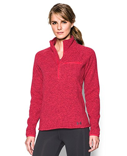 Under Armour Women's Wintersweet 1/2 Zip, Knock Out/Stealth Gray, X-Small