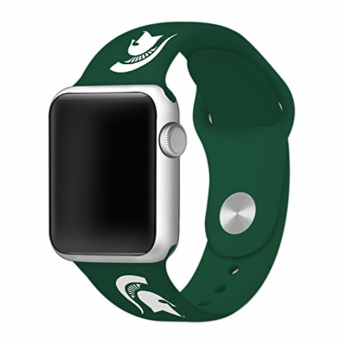 Michigan State Spartans 42mm Silicone Sport Band fits Apple Watch - BAND ONLY