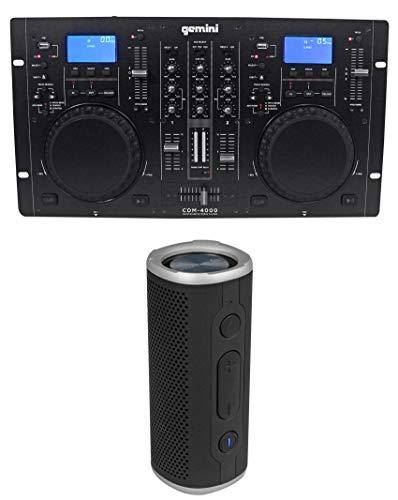 - Gemini CDM-4000 2 Ch. DJ Mixer Media Player System+MP3/CD/USB+Bluetooth Speaker