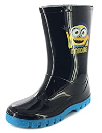 Boys Minions Despicable Me Blue Welly Wellington Boot Various Sizes