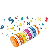 Hisoul Hot  Magic Cube Toy, Children's Mathematics Geometry Puzzle Calculation Digital Cylindrical...
