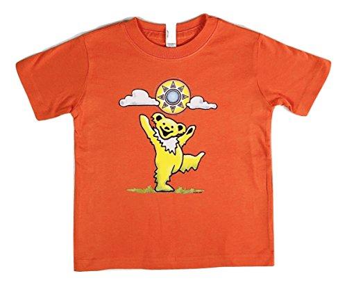 Grateful Dead Toddler Sunny Bear T Shirt by Dye The Sky (4T) Orange