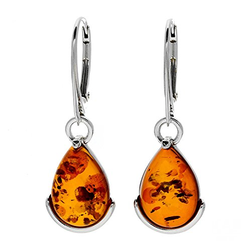 KAB Cognac Baltic Amber Sterling Silver 925 Beauty Earrings 7
