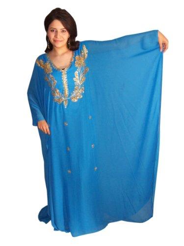 XXXL dans Trkis Gold mousseline Taille unique en couleurs diffrentes robe M Lave vaisselle Abaya aq7z88