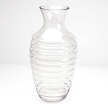 Large Clear Glass 40cm Tall Snake Charmer Vase